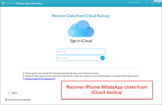 retrieve deleted whatsapp messages from icloud on iphone