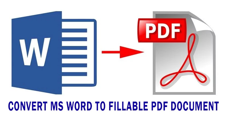 convert ms word to fillable pdf document