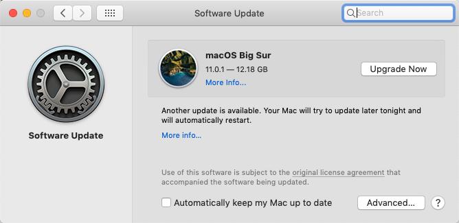 update mac os to fix imessage not working on mac