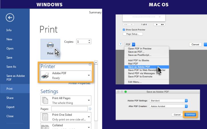 print word to pdf