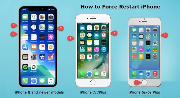 how to force restart iphone