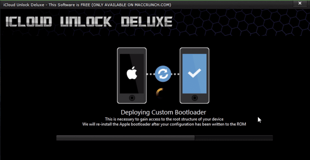 step to use icloud unlock deluxe 1