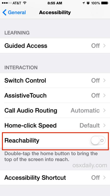 iphone reachability